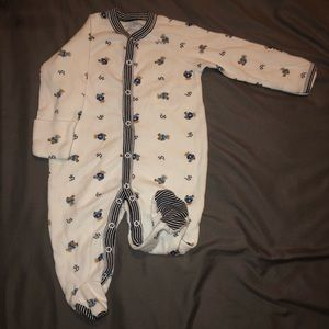 Ralph Lauren Boys' Footed Onesie